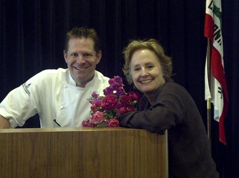Josh Thomsen with Alice Waters