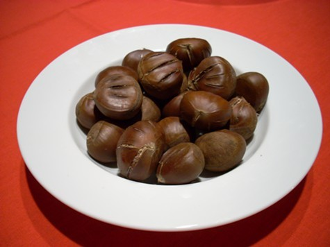 Roasted chestnuts from California.
