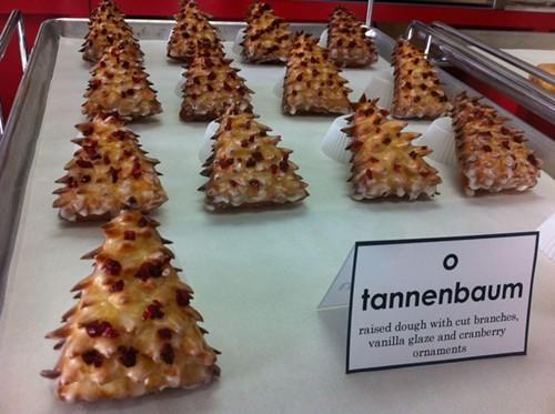 Christmas tree-shaped doughnuts! (via Facebook)