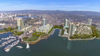 A computer-rendering of what Brooklyn Basin will look like when its finished.