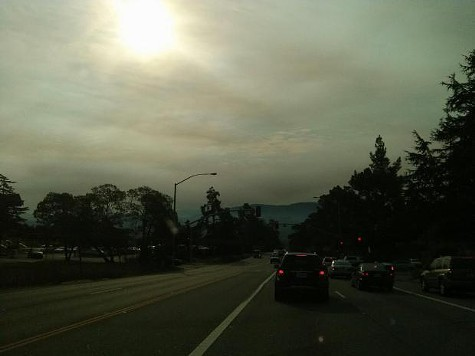 Smoke from the Pfeiffer fire.