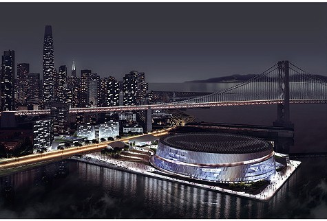 The Warriors proposed new home in San Francisco.