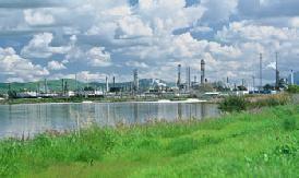 The Tesoro refinery near Martinez.