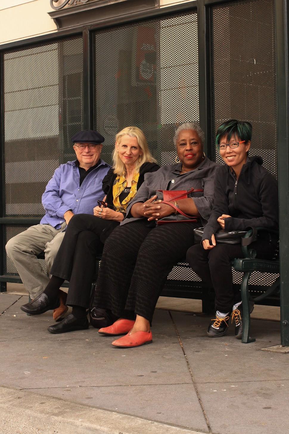 Peter Richards, Johanna Poethig, Mildred Howard, and Joyce Hsu