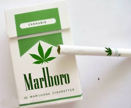 A parody image of a Marlboro Green joint