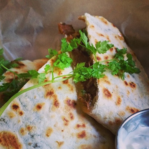 Oxtail quesadilla at AlaMar (via Facebook).