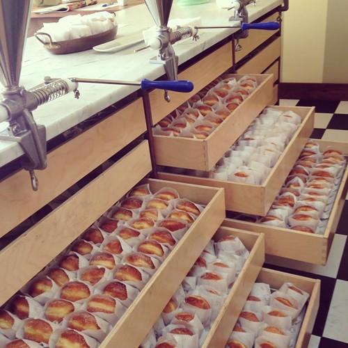 Drawers full of doughnuts (via Facebook).