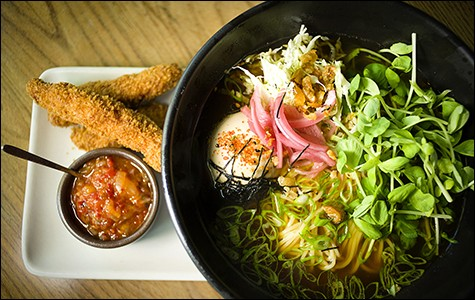 Fried chicken ramen, now available for lunch.
