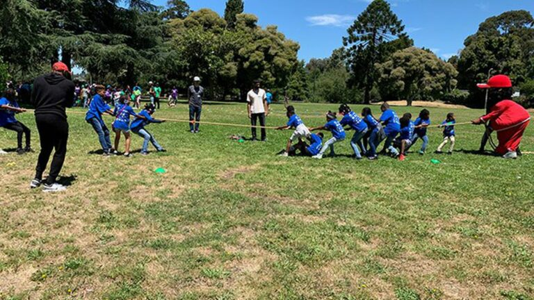 Blue Shield Partners With Oakland for Town Camp Program