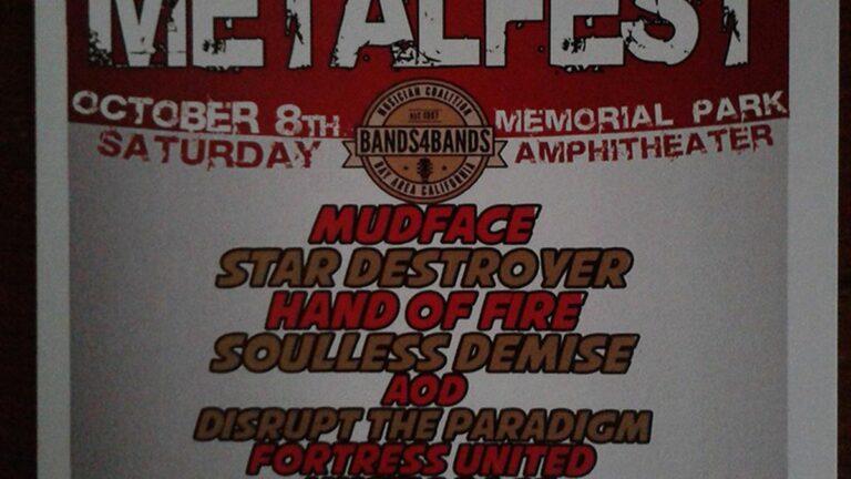 Metal Fest Canned Food Drive at Hayward Memorial Park