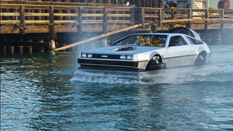 Um, Did You See the Delorean Hovercraft on the Bay?